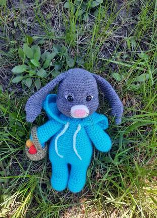 Мягкая игрушка Пасхальный кролик в пижаме