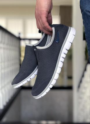 Шикарные мужские кроссовки nike free run 3.0 серые