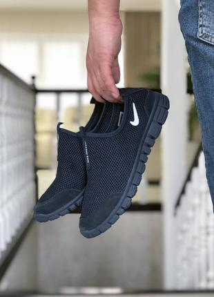 Трендовые мужские кроссовки  nike free run 3.0  тёмно-синие