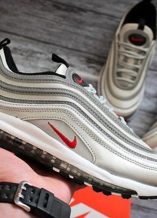 Женские кроссовки nike air max 97 silver.