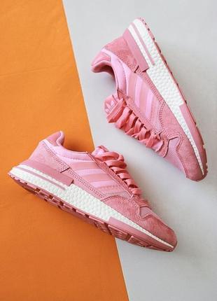Женские розовые адики adidas zx 500 pink.
