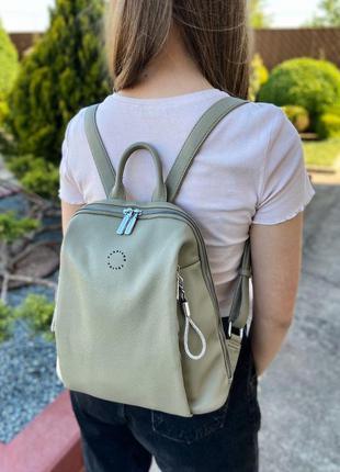 Женский стильный горродской рюкзак velina fabbiano жіночий ранець