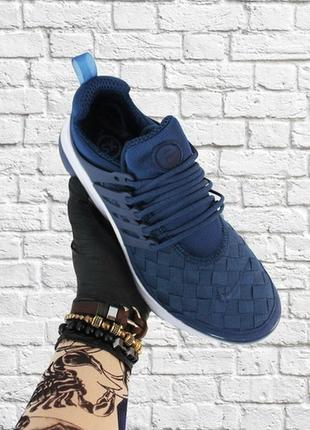 Мужские стильные кроссовки nike air presto blue white.