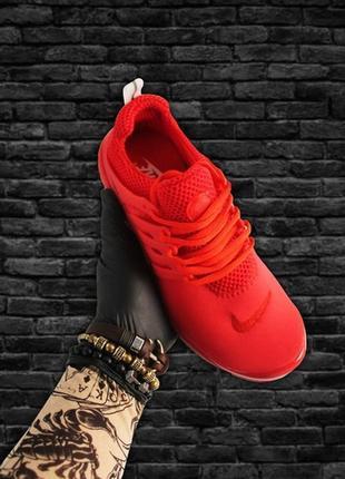 Сочные яркие женские кроссовки nike air presto red  .