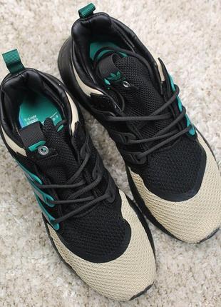 Элегантные мужские кроссовки adidas eqt support black green br...
