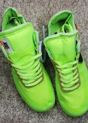 Мужские кроссовки nike air force 1 low off-white green.