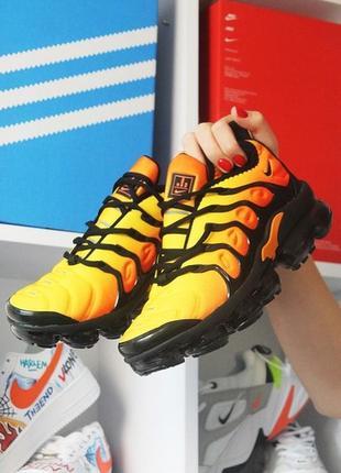 Новинка! мужские кроссовки nike vapormax tn yellow orange.