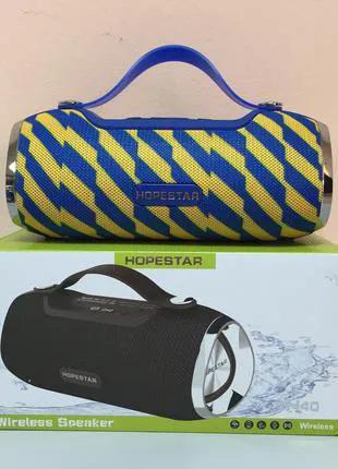 Колонка Bluetooth HOPESTAR H40 Blue_Yellow