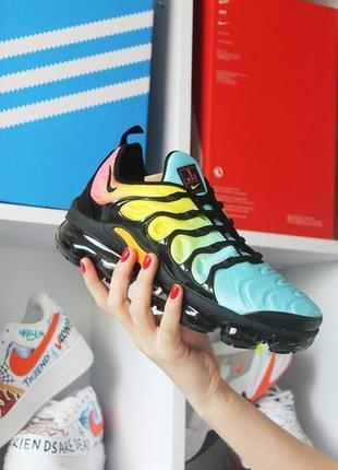 Мужские кроссовки nike vapormax tn blue yellow.