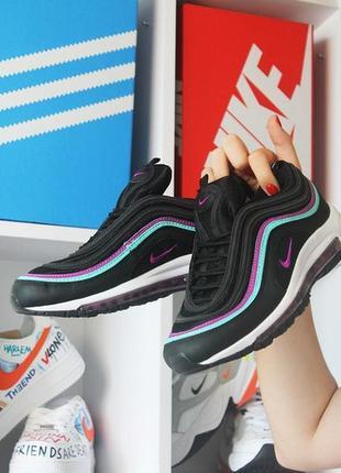 Мужские кроссовки nike air max 97 black violet blue.