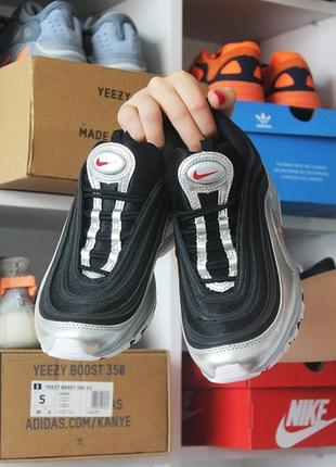 Мужские кроссовки nike air max 97 black silver.