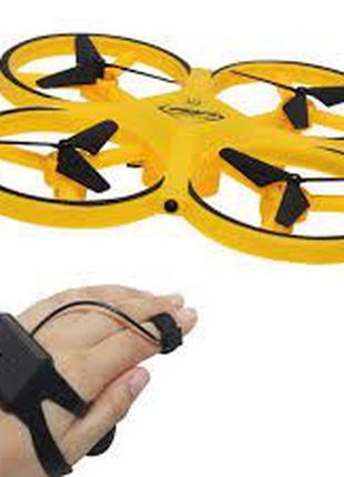 Квадрокоптер управляемый жестами руки, TRACKER, Желтый / сенсо...