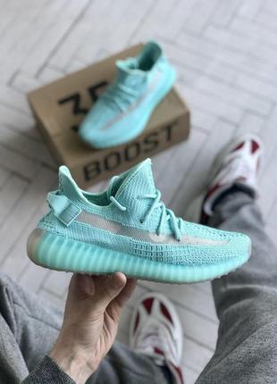 👟кроссовки adidas yeezy boost 350 на лето бирюзовые👟