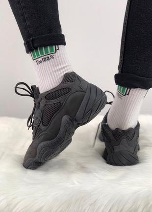 Замшевые демисезонные кроссовки adidas yeezy boost 500 utility...