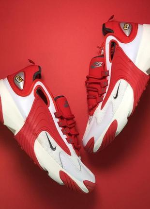 Мужские демисезонные кроссовки nike zoom 2k red white.