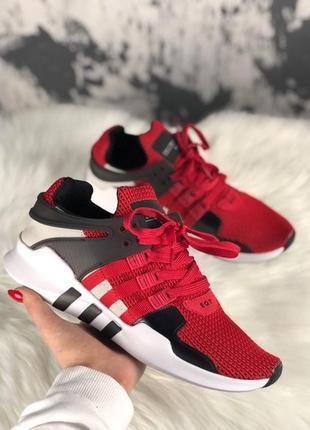 Мужские кроссовки adidas eqt support adv red black.