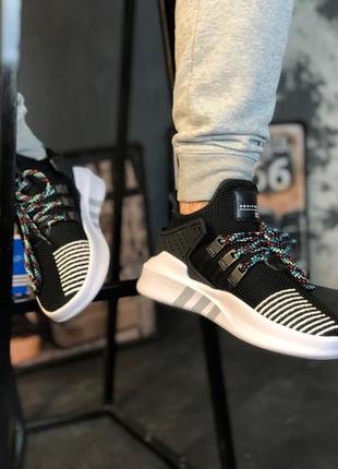 Мужские стильные лоферсы adidas eqt support bask adv core blac...