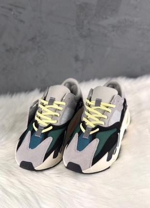 Стильные демисезонные кроссовки adidas yeezy wave runner 700.