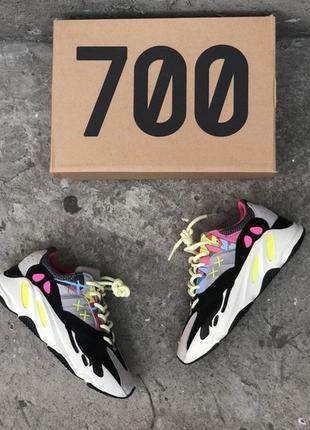 Женские кроссовки adidas yeezy boost 700 wave runner pink.