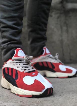 Мужские кроссовки adidas yung 1 red white.