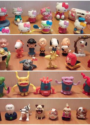 Игрушки Макдональдс Hello Kitty, Снупи ,Бувы (дом), животные