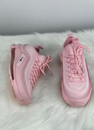 Женские супер кроссовки nike air max 97 ultra pink.