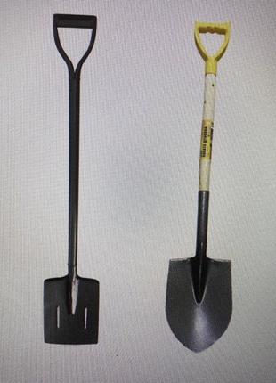 Лопата с ручкой штыковая, совковая, траншейная, рельсовая стал...
