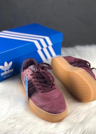 Женские кроссовки\кеды adidas samba tore burgundy.