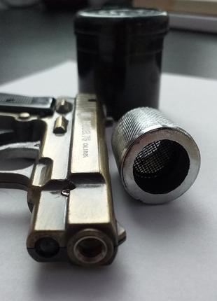 Турбо зажигалка пистолет + Колпак (Маслосборник напёрсток, напас)