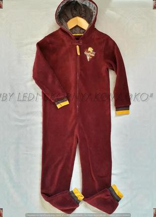 Фирменная пижама/кенгуруни с магенького материала цвета бордон...