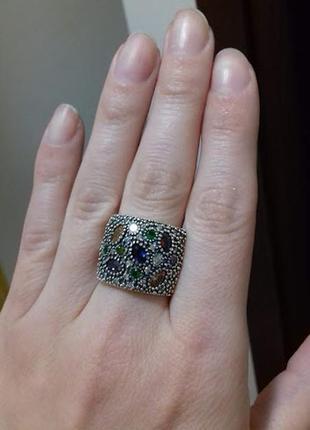 Серебряное кольцо бархат 17,5