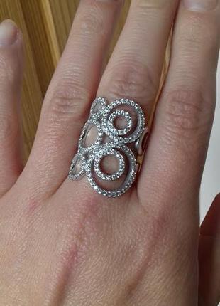Серебряное кольцо витраж