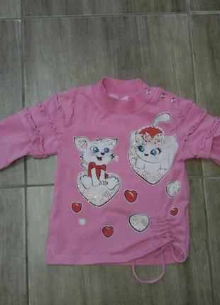 Кофта bo&bo для девочки 2-3 лет