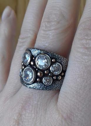 Широкое серебряное кольцо ланфорд