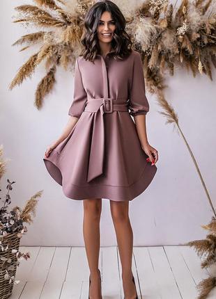 Платье с пышной юбкой под поясок