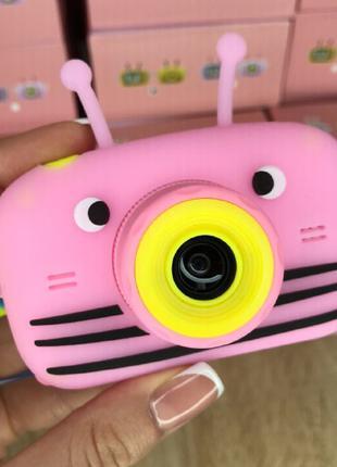 Детский фотоаппарат Smart Kids Camera с фронтальной камерой. Pink