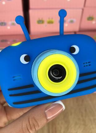 Детский фотоаппарат Smart Kids Camera с фронтальной камерой. Blue