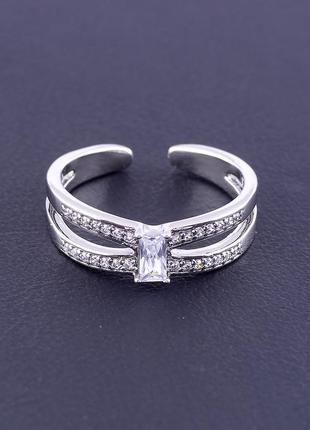 Кольцо 'xuping' фианит (родий)  0907090
