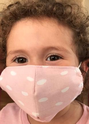 Детская многоразовая хлопковая маска