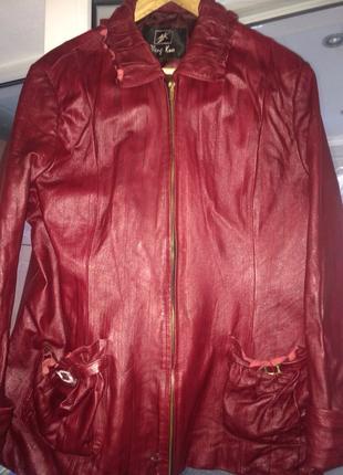 Куртка Zheng Kuo весенняя, осеняя, куртка женская кожа