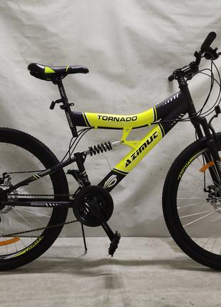"""Спортивный велосипед 26 дюймов Azimut Tornado Shimano рама 19"""""""