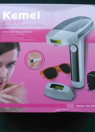 Лазерный эпилятор, фотоэпилятор Kemei KM-6812