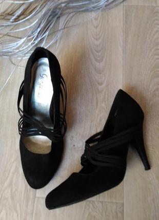 Туфли чёрные, р.40