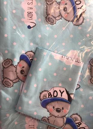 Постельный комплект в детскую кроватку, новый