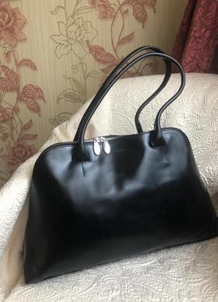 Люкс статусная кожаная сумка формат а4, натуральная кожа, ориг...