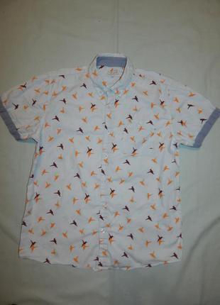 Рубашка модная на подростка 13-14 лет 164 см