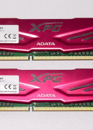 8Gb (2x 4Gb Kit) DDR3 1600 AData XPG HS Red Игровая память НОВАЯ!