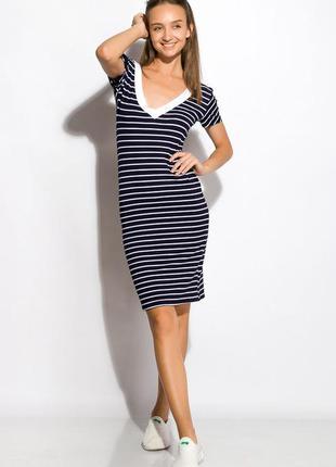 Платье женское с v-образным вырезом 120p098