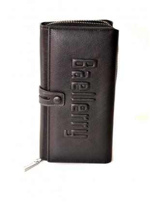 Кошелек - портмоне мужской Baellery leather Черный S1393