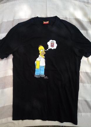 Качественная футболка с оригинальным принтом с simpsons